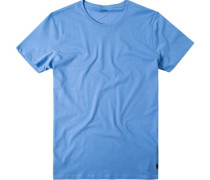 Herren T-Shirt Baumwolle hellblau