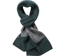 Schal Baumwolle petrol-grau gestreift