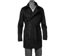 Herren Mantel Baumwoll-Stretch schwarz schwarz,schwarz