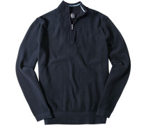 Pullover Troyer Classic Fit Baumwolle navy