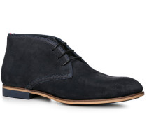 Schuhe Desert-Boot Veloursleder dunkelblau ,braun