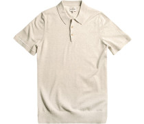 Polo-Shirt Polo Modern Fit Baumwolle off white meliert