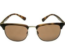 Brillen Sonnenbrille Metall-Kunststoff -bernstein mamoriert