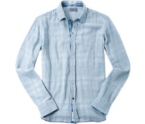 Hemd Modern Fit Baumwolle -ecru gestreift