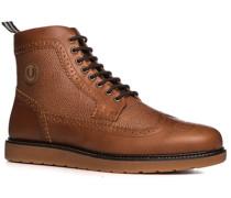 Herren Schuhe Boots Leder cognac braun,braun