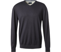Pullover, Wolle-Baumwolle, navy