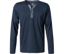 Schlafanzug Longsleeve Baumwolle-Modal navy