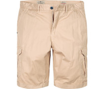 Hose Shorts Regular Fit Baumwolle sand