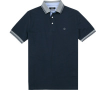Polo-Shirt Baumwoll-Piqué marine