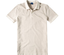 Herren Polo-Shirt Polo Modern Fit Baumwoll-Piqué beige meliert