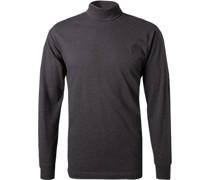 Shirt Baumwolle anthrazit meliert