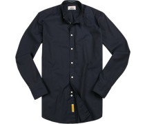 Hemd, Regular Fit, Baumwolle, navy