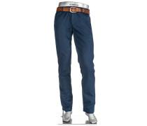 Herren Hose Chino Regular Slim Fit Baumwoll-Stretch navy blau