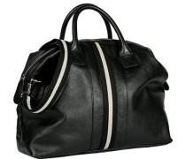 Herren Tasche  Sporttasche Leder schwarz