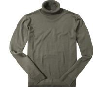 Pullover Merinowolle khaki