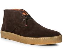 Schuhe Desert Boots, Veloursleder, dunkelbraun
