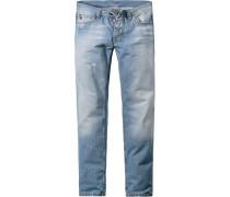 Herren strellson Sportswear Jeans Hammet Straight Fit Baumwolle jeansblau