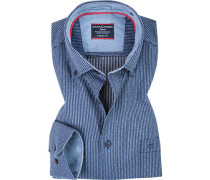 Hemd, Comfort Fit, Baumwolle, weiß- gestreift