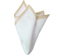 Accessoires Einstecktuch, Leinen, beige -weiß