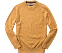 Pullover Wolle-Seide maisgelb meliert