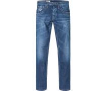 Blue-Jeans Regular Fit Baumwolle jeansblau