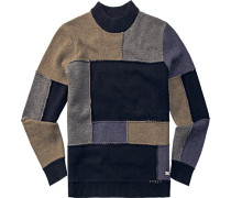 Pullover Reece Schurwolle -blau