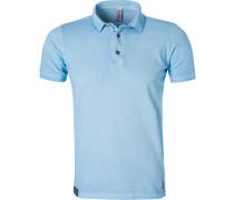 Polo-Shirt Polo, Baumwoll-Piqué, hellblau