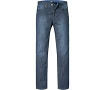 Herren Jeans Classik Fit Baumwoll-Stretch dunkelblau