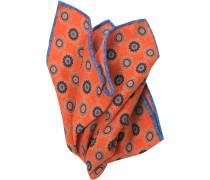 Herren Accessoires  Einstecktuch Wolle orange gemustert