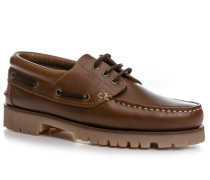 Schuhe Mokassins Rindleder cognac