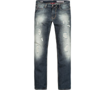Herren Jeans Regular Fit Baumwolle blau