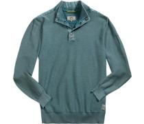 Pullover Troyer, Baumwolle, petrol