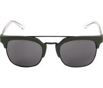 Brillen Sonnenbrille, Kunststoff-Metall, olivgrün-schwarz