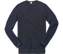 Pullover Baumwolle navy