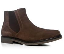 Schuhe Chelsea Boots Veloursleder kastanienbraun ,beige