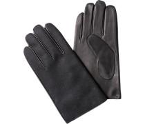 Herren  Handschuhe Tuch-Leder schwarz
