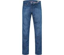 Bluejeans Modern Fit Baumwoll-Stretch jeansblau