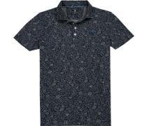Polo-Shirt Polo Baumwoll-Piqué -oliv floral