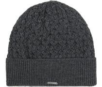 Mütze Wolle anthrazit