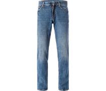 Jeans, Modern Fit, Baumwolle, jeansblau