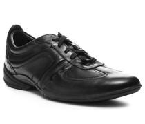 Herren Schuhe Sneaker Leder schwarz