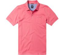 Herren Polo-Shirt Baumwoll-Piqué lachs rot