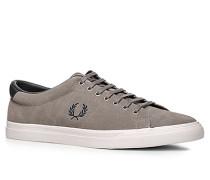 Herren Schuhe Sneaker Veloursleder Ortholite® greige braun,weiß