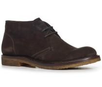 Schuhe Desert Boots, Kalbvelours, testa di moro