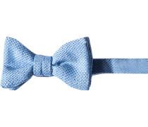 Krawatte Schleife Wolle-Seide hellblau-weiß meliert