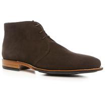 Schuhe Schnürstiefeletten, Veloursleder, dunkelbraun