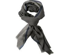 Herren  LONDON Schal Wolle-Seide anthrazit-schwarz kariert grau