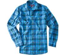 Herren Hemd Regular Cut Baumwolle capriblau