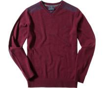 Pullover Lammwolle bordeaux
