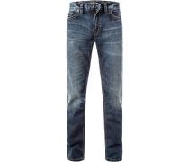 Jeans, Baumwoll-Denim, jeansblau